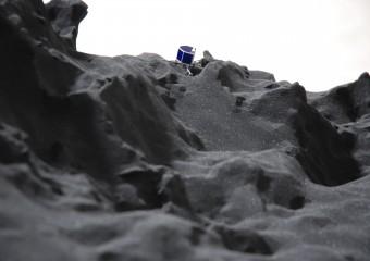 Rosetta Mission – Modell der Landestelle des Philae-Lander
